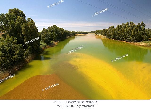 Pollution in the Odiel river, Gibraleon, Huelva-province, Spain