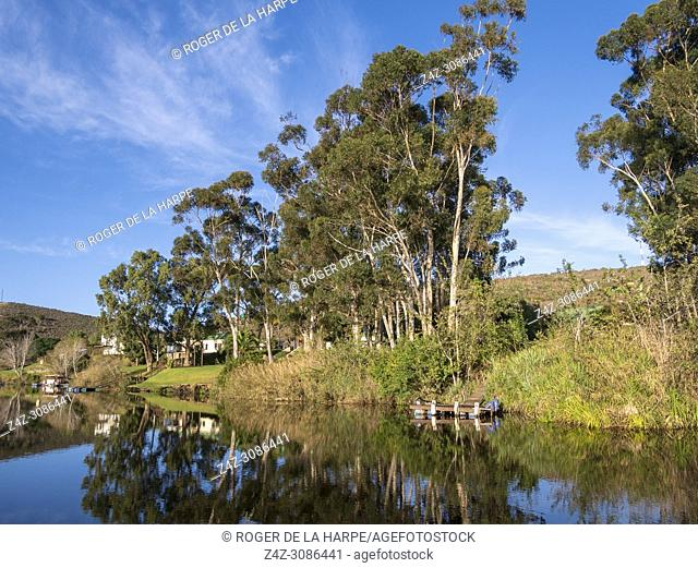 The Breede River at Malgas (Malagas). Western Cape. South Africa