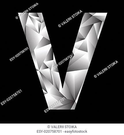 crystal letter V
