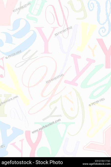 Hintergrund mit Buchstaben Y