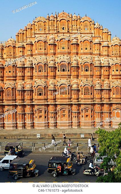 Hawa Mahal Palace of Winds  Jaipur  Rajasthan, India