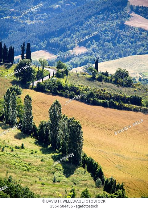 Landscapes in Portico de Romagna, Emilia-Romagna, Italy