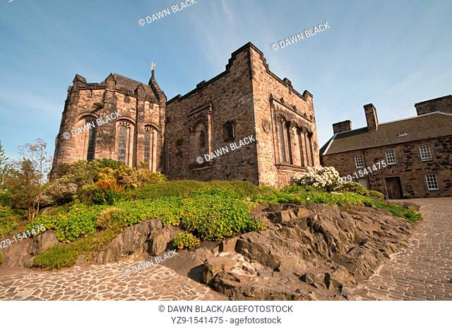 North East Exterior of the Scottish National War Memorial and Shrine, Edinburgh Castle  built in 1754 on the site of the castle church of St Mary  Originally...