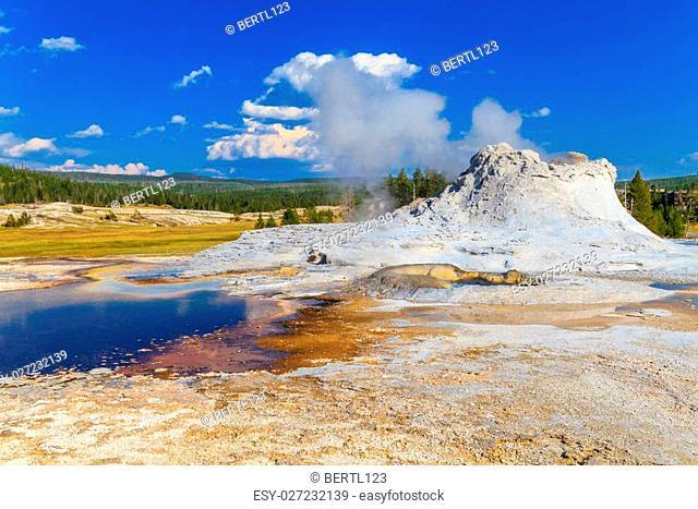 Castle Geyser, Yellowstone National Park (Upper Geyser Basin), Wyoming