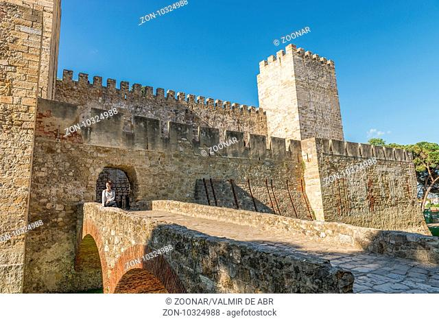 Internal part Castle of Sao Jorge