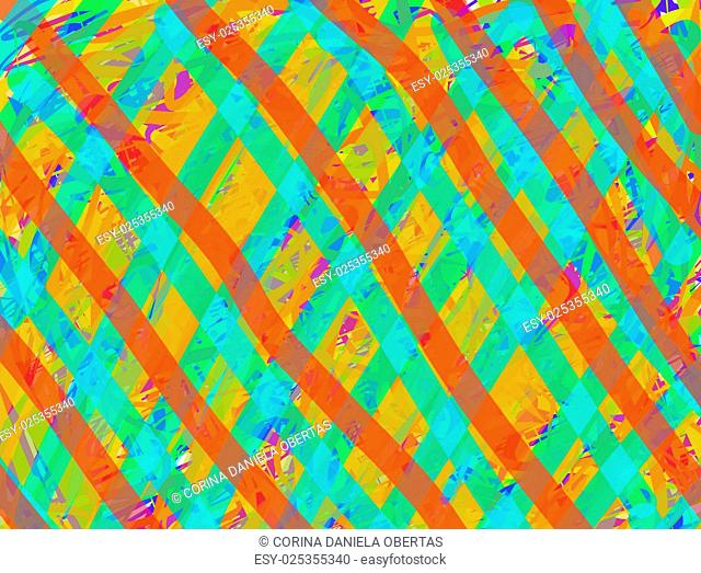 Abstract background in orange and cyan tints
