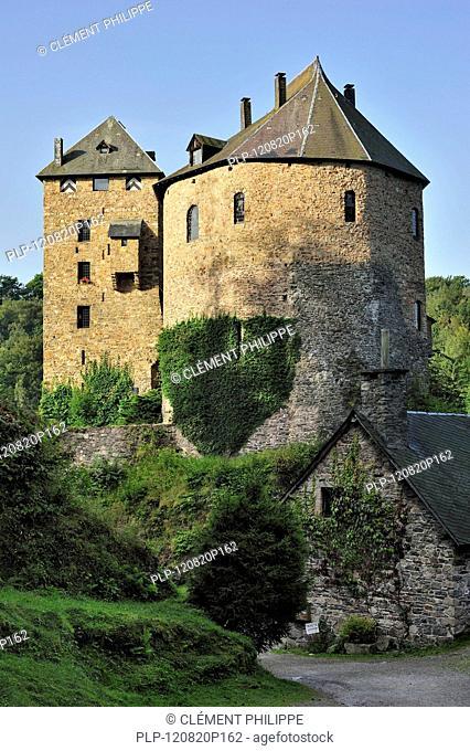 The medieval Reinhardstein Castle at Robertville in the Belgian Ardennes, Belgium
