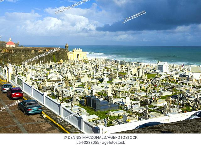 Cemetary atSan Juan, Puerto Rico s capital and largest city, sits on the island's Atlantic coast. Its widest beach fronts the Isla Verde resort strip