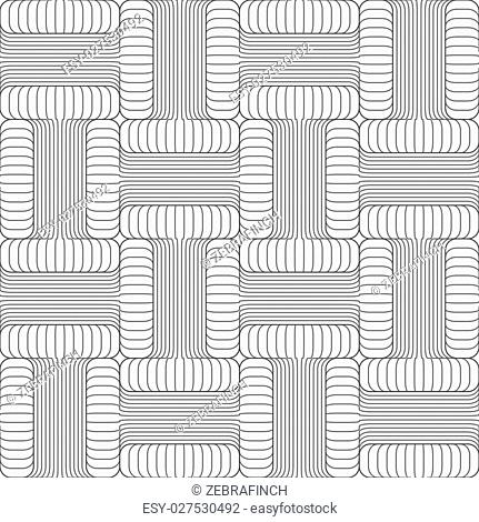 Shades of gray striped T shapes touching.Seamless stylish geometric background. Modern abstract pattern. Flat monochrome design