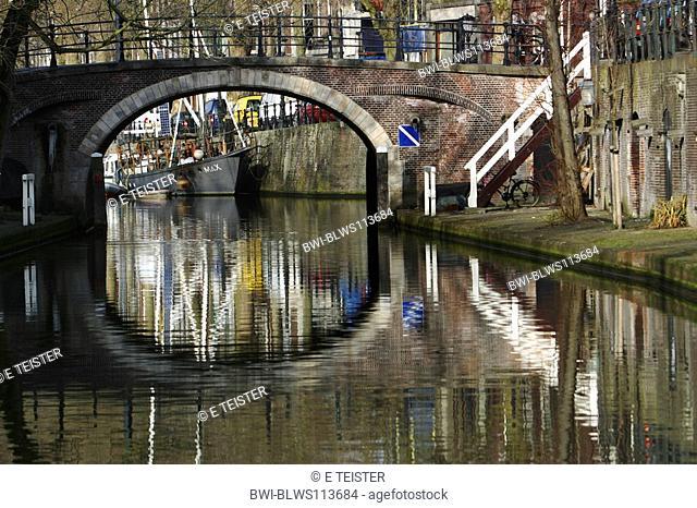 bridge over a canal, Netherlands, Utrecht
