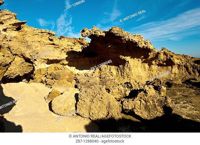 Fossil dunes, Parque Regional de Calblanque, Cartagena, Spain