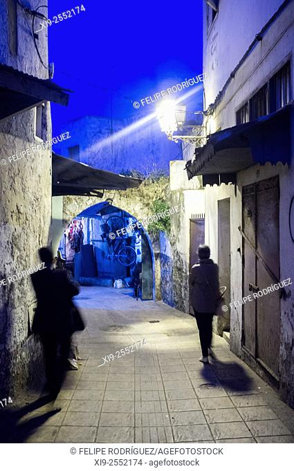 Street of the Medina (old town), Rabat, Morocco