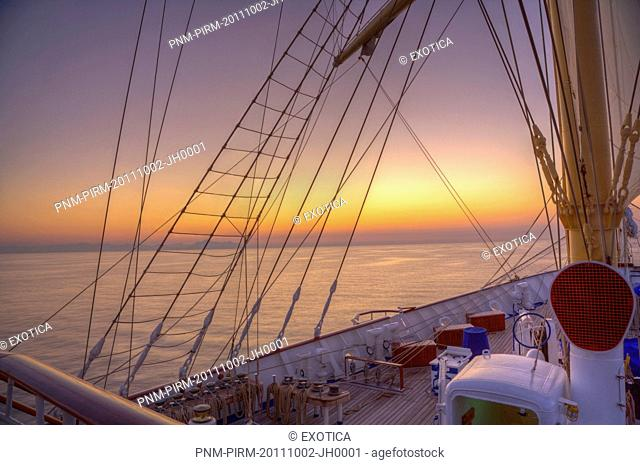 Royal clipper ship in the sea, Italy