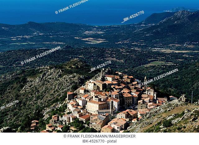 Mountain village, Westcoast, Corsica, France