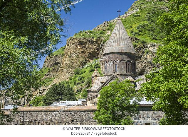 Armenia, Geghard, Geghard Monastery, Surp Astvatsatsin Church, 13th century, exterior