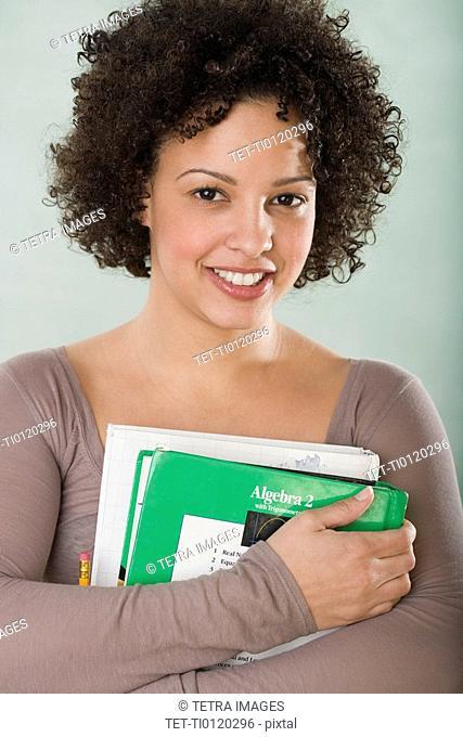 Portrait of female college student
