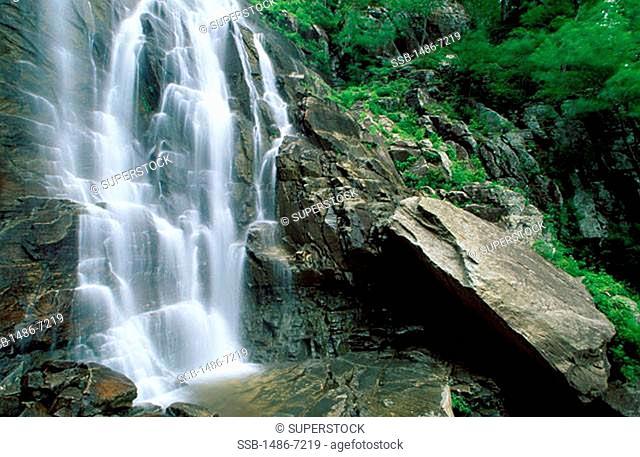 Hickory Nut Falls Chimney Rock Park North Carolina USA