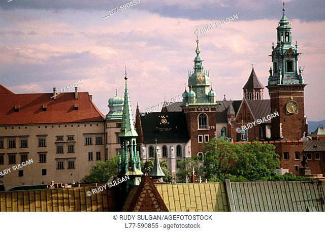 Wawel castle and cathedral. Krakow. Poland