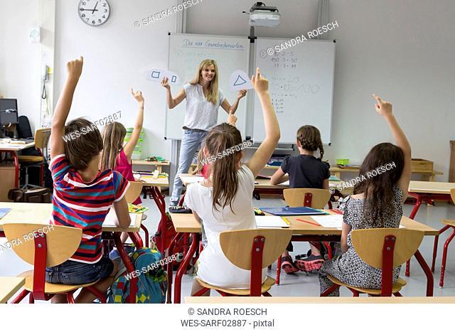 Teacher with her class