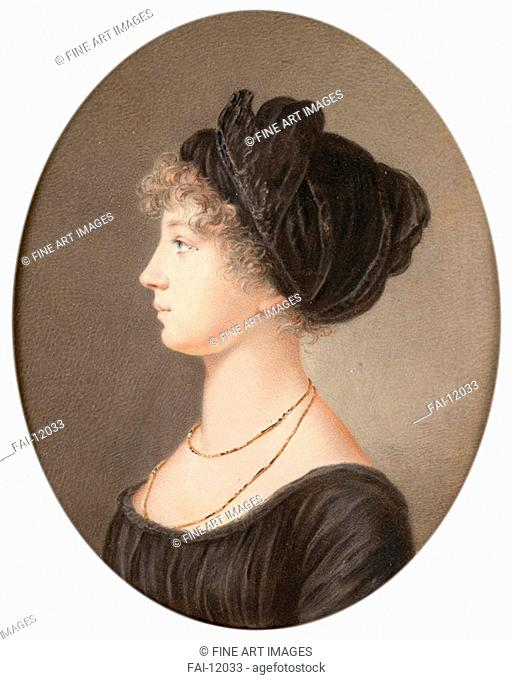 Portrait of Empress Elizabeth Alexeievna, Princess Louise of Baden (1779-1826). Benner, Jean-Henri (1776-1836). Oil on copper