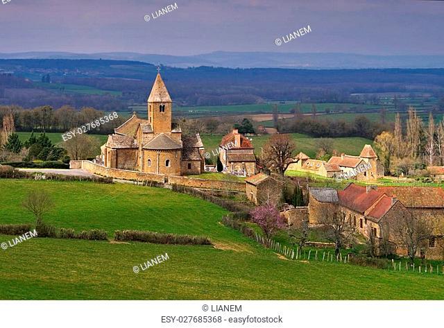 the village La Chapelle-Sous-Brancion in Burgundy, France