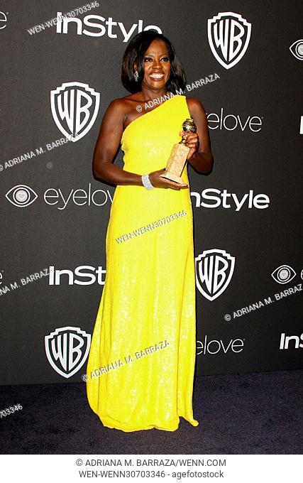 InStyle & Warner Bros. Pictures Golden Globes After Party 2017 held at the Beverly Hilton Hotel Featuring: Viola Davis Where: Los Angeles, California