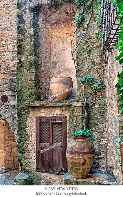 Wooden door still life, Peratallada, Spain