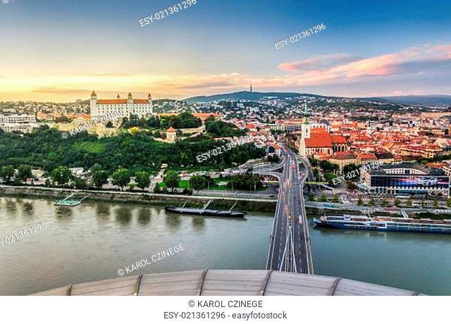 Bratislava at Sunset, Slovakia
