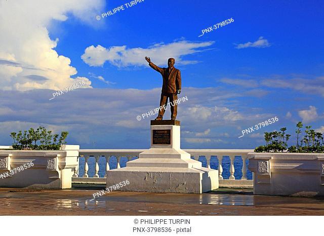 Mexico, Quintana Roo, Cozumel Island. San Miguel de Cozumel. General Rafael Melgar statue