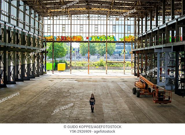 Tilburg, Netherlands. Abandoned industrial building, formerly owned by the Dutch Railways Refurbishing and Overhauling Company