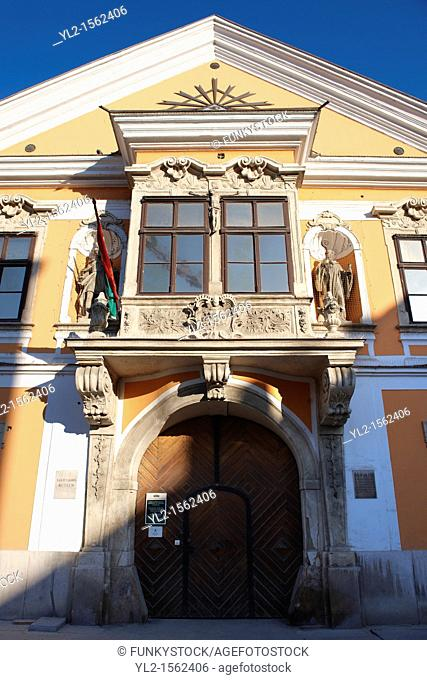 Jånos Xantus Museum - The Abbott's House - 5 Szechenyi Square - Baroque with Rocco Style protruding Balcony -  Gyor  Gyor Hungary