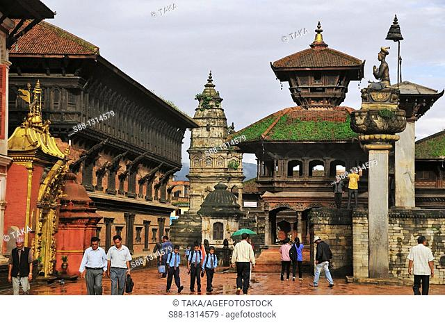 Heart of the old town Durbar Square UNESCO World heritage site