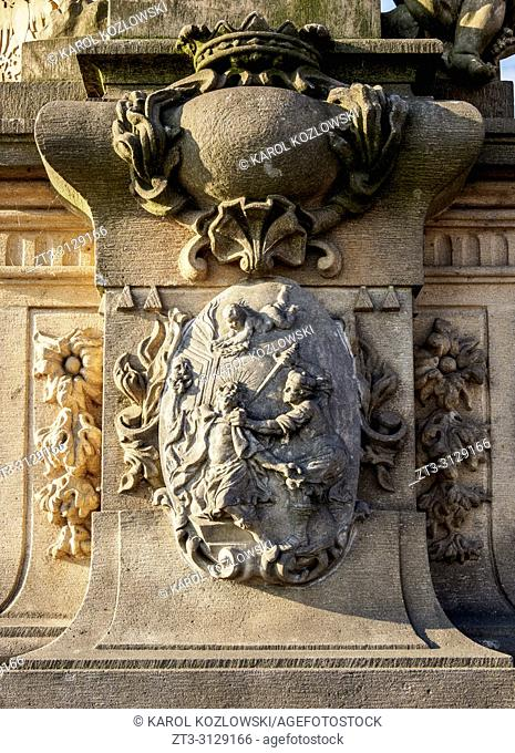 Charles Bridge, detailed view, Prague, Bohemia Region, Czech Republic