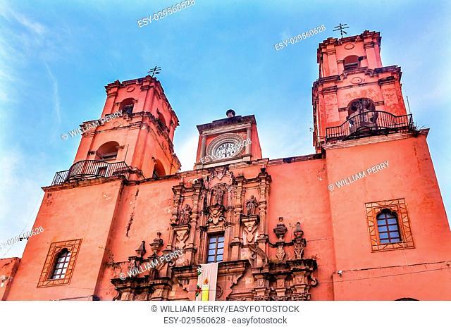 Pink Templo de San Francisco, San Francisco Church, Guanajuato, Mexico, Built in the 18th Century