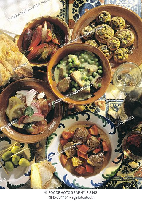 Assorted Appetizers from Spain