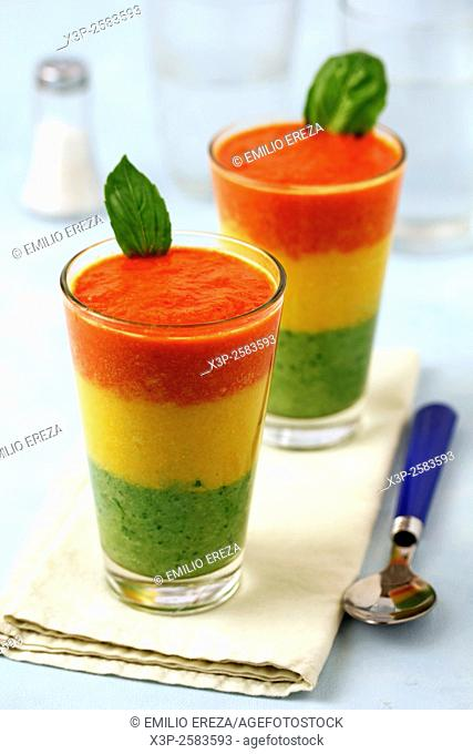 Three colours gazpacho