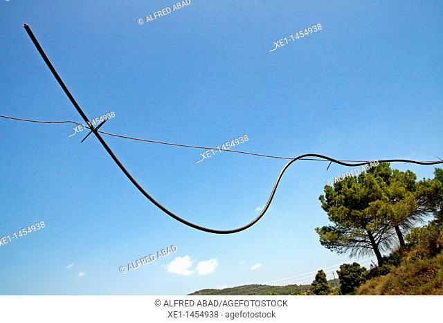 hanging hose, Bages, Catalonia, Spain