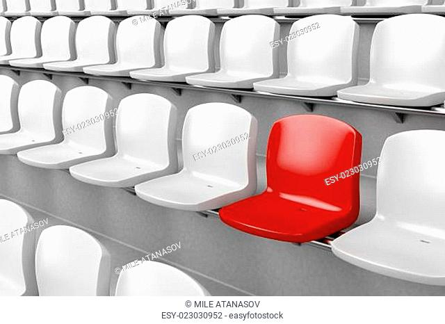 Unique red seat