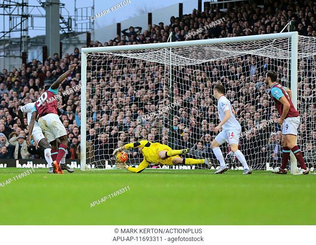 2016 Barclays Premier League West Ham v Liverpool Jan 2nd. 02.01.2016. Boleyn Ground, London, England. Barclays Premier League
