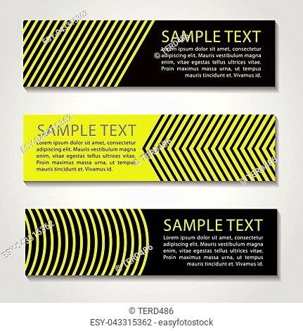 yellow and black straight line banner.Vector corporate design,luxury simple