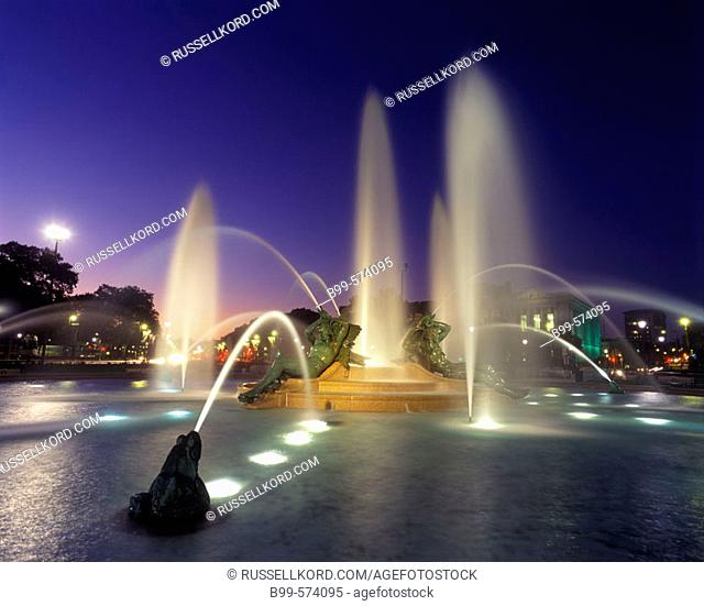 Swann Fountain, Parkway, Philadelphia, Pennsylvania, USA