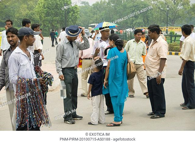 Tourists at a promenade, India Gate, New Delhi, India