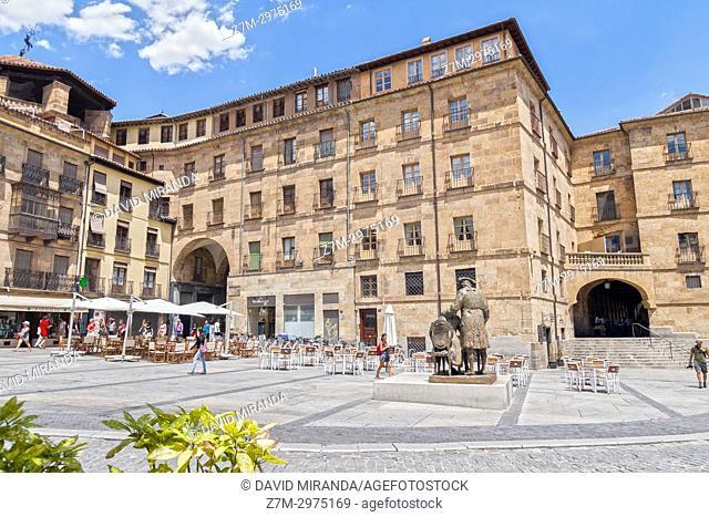 Exterior de la Plaza Mayor de Salamanca. Ciudad Patrimonio de la Humanidad. Castilla León. España