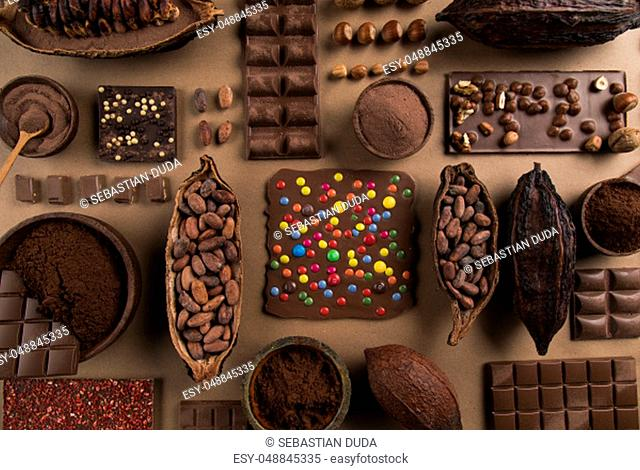 Set of Chocolate candies collection