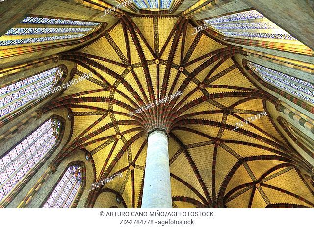 The Gothic Church of the Jacobins, XIIIth century. The dome. Toulouse, Haute-Garonne department, Occitanie region, France