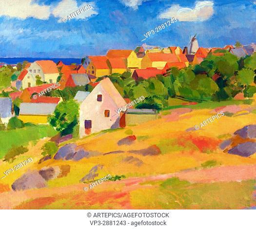 Karl Isakson - View over Gudhjem - Bornholms Kunstmuseum