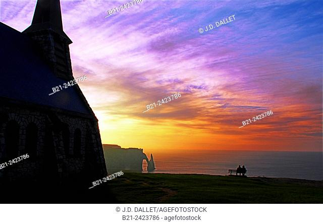 Étretat is a commune in the Seine-Maritime department in the Haute-Normandie region in north-western France. It is a tourist and farming town situated about 32...
