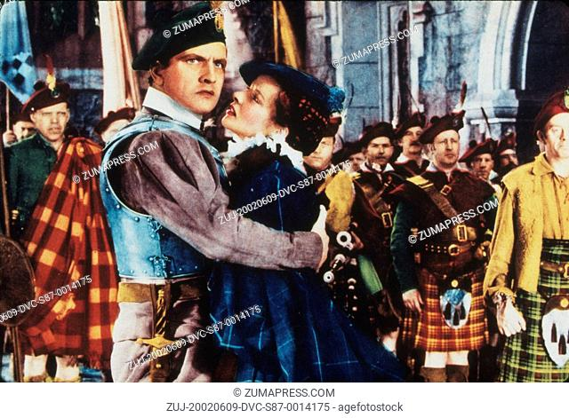 1936, Film Title: MARY OF SCOTLAND, Director: JOHN FORD, Pictured: JOHN FORD, KATHARINE HEPBURN, FREDRIC MARCH, MEN (AMBITIOUS), MEN (TOUGH), EMBRACE, LUSTFUL