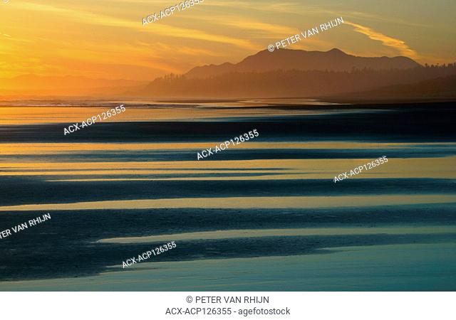 View of Long Beach after sunset,Pacific Rim National Park,British Columbia,Canada