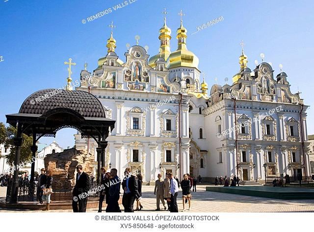 Ukraine Kiev Holy Dormition Cathedral of the Kiev Perchrsk Laura, post 1991 reconstruction Unesco World Heritage Site